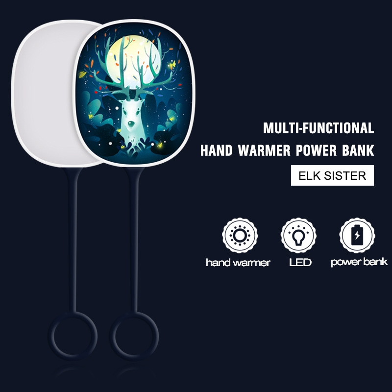 3 in 1 Hand warmer LED power bank -gccelectronic.com