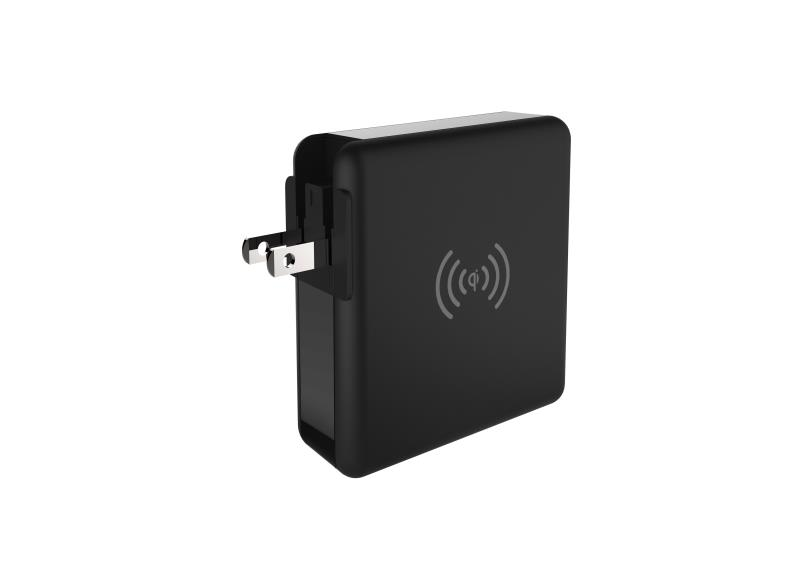 Qi certified Universal Travel Charger Multfunctional power bank