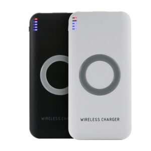 Hot Sells Power Bank Rechargeable High Quality 2 in 1 Qi Wireless Portable Phone Charger