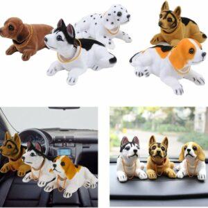 Lovely Car Auto Vehicle Dashboard Decoration Husky Bobblehead Dog Doll Car Vehicle big head dog toy