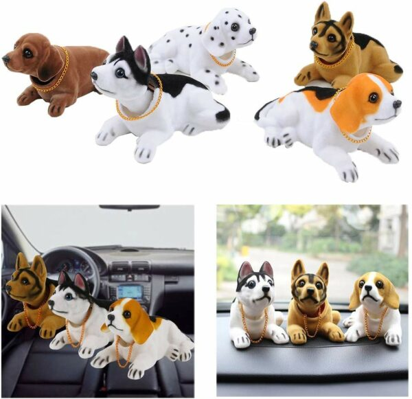 Lovely Car Auto Vehicle Dashboard Decoration Husky Bobblehead Dog Doll Car Vehicle big head dog toy