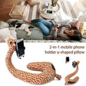Animal Cute Cartoon Neck Support Pillow with Holder