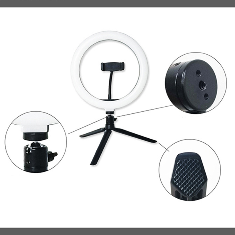 Wholesale 10 Inch 26cm LED Ring Light 5W Selfie Ring Lamp Makeup Studio Fill Light Live Broadcast Streaming Beauty Photography Photo Light