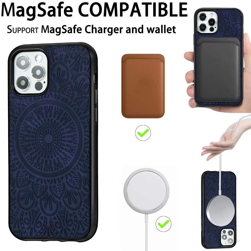 Wholesale Magsafing Magnetic Card Holder Wallet Leather TPU Phone Case For Iphone 12/iphone 12 Pro/iphone 12 Pro Max