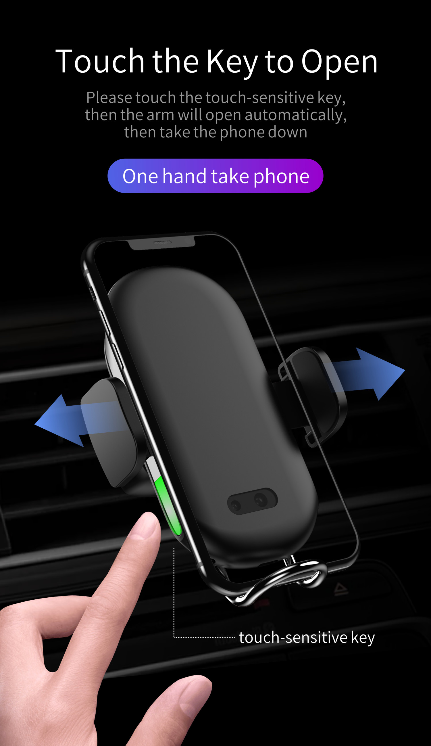10W Fast Charging Car Mount Universal Air Vent Phone Holder Wireless Charger for iPhone Xs max Xr Xs X 8 8Plus for Samsung S9