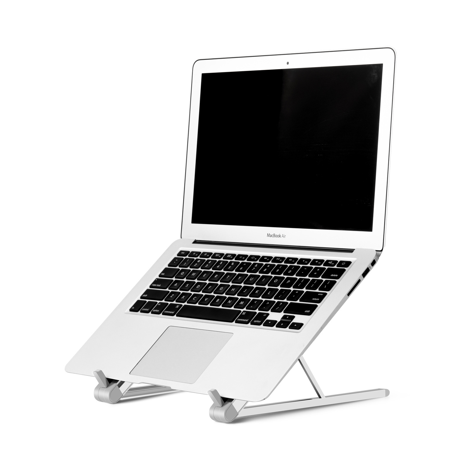 Portable Laptop Stand, Aluminum Foldable Holder, 6 Levels Height & Angle Adjustable Aluminum Ventilated Notebook Riser for MacBook Air Pro, More 10-15.6 inches PC Computer, Tablet, iPad