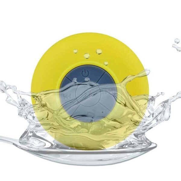Recharable Splash-proof design with suction cup backing Speaker